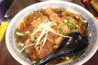 台湾で食べた牛肉麺の写真・画像素材[1445202]