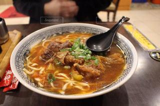 台湾で食べた牛肉麺の写真・画像素材[1445203]