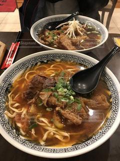 台湾で食べだ牛肉麺の写真・画像素材[1445212]