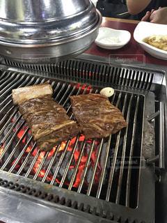 韓国で食べた焼肉の写真・画像素材[1456905]