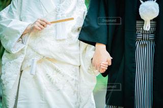 白無垢と紋付袴の写真・画像素材[1511997]
