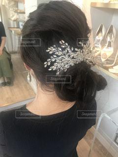 ヘッドドレス試着の写真・画像素材[1520220]