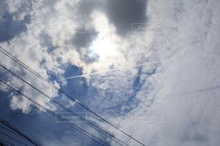 飛行機雲の写真・画像素材[1549025]