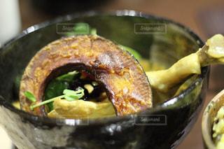 札幌で食べたスープカレーの写真・画像素材[1557158]