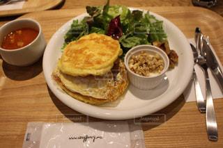 札幌で食べたパンケーキの写真・画像素材[1557258]