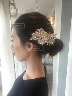 ヘッドドレス試着の写真・画像素材[1559838]