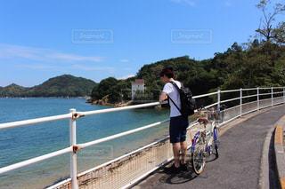 直島でサイクリングの写真・画像素材[1560966]