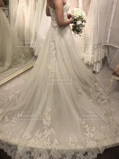 ウェディングドレス試着の写真・画像素材[1564749]