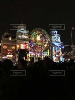 大阪市中央公会堂のプロジェクトマッピングの写真・画像素材[1576408]