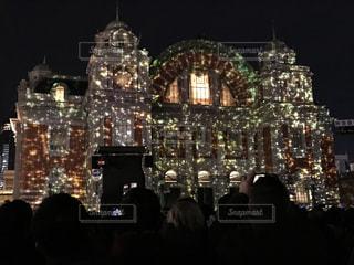 大阪市中央公会堂のプロジェクトマッピングの写真・画像素材[1576409]