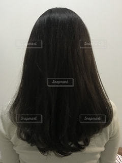 トリートメント後の髪の毛の写真・画像素材[1609766]