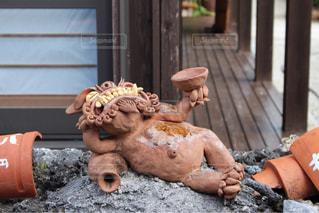 竹富島で見つけたシーサーの写真・画像素材[1630040]