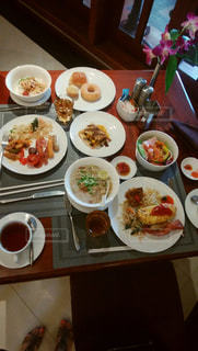 朝食ビュッフェの写真・画像素材[1676886]