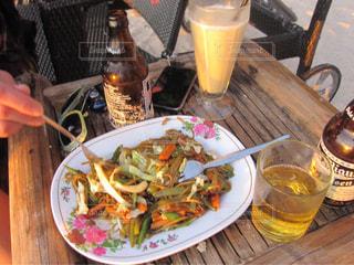 ボラカイ島のビーチで食べた夕食の写真・画像素材[1686369]