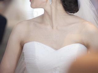 結婚式 ヘアメイク中の花嫁の写真・画像素材[1743217]