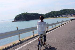直島でサイクリングの写真・画像素材[1751670]