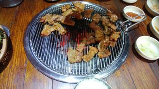 韓国で食べた焼肉の写真・画像素材[1752307]