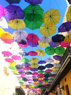 カラフルな傘の写真・画像素材[1774083]