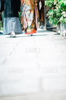 京都での和装前撮りの写真・画像素材[1792897]