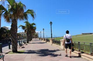 観光スポットを歩く男性の写真・画像素材[1813360]