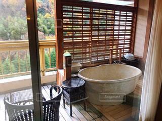 温泉旅館 露天風呂付き客室の写真・画像素材[1864971]