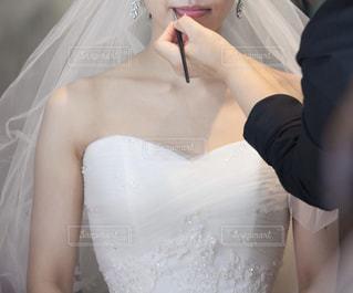 結婚式ヘアメイクの写真・画像素材[2048506]