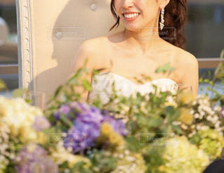 高砂に座る花嫁の写真・画像素材[2049581]