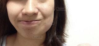 親不知抜歯後のフェイスラインの写真・画像素材[2183747]