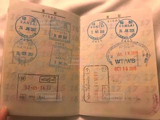パスポートの見開きの写真・画像素材[2306549]