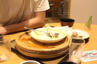 食後のテーブルの写真・画像素材[2502222]