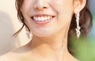 花嫁のクローズアップの写真・画像素材[2560698]