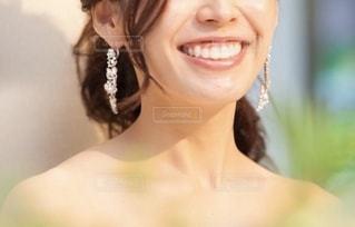 花嫁のクローズアップの写真・画像素材[2561834]