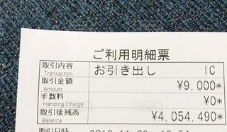 ATM利用明細票の写真・画像素材[2752864]
