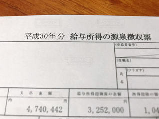 源泉徴収票の写真・画像素材[2768613]
