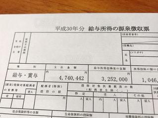源泉徴収票の写真・画像素材[2768619]
