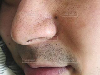 鼻のクローズアップの写真・画像素材[2876318]