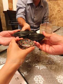 日本酒でカンパイの写真・画像素材[2879302]