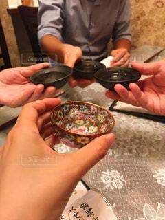日本酒でカンパイの写真・画像素材[2879304]