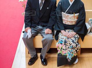 結婚式を迎える両親の写真・画像素材[2916288]