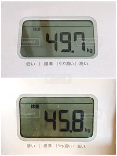 体重の変化の写真・画像素材[3002637]
