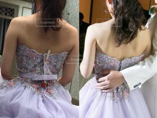 ウェディングドレスを着た人の写真・画像素材[3020902]