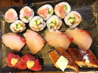 寿司のクローズアップの写真・画像素材[3399134]