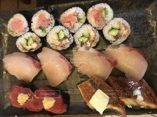 寿司のクローズアップの写真・画像素材[3399133]