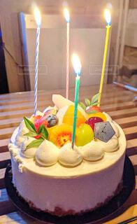 誕生日ケーキの写真・画像素材[3809817]