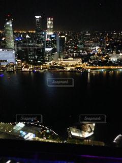 香港夜の街の景色の写真・画像素材[1341301]