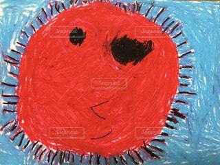 小学生の絵「太陽」の写真・画像素材[1381205]