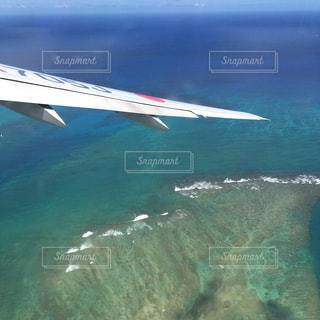 ハワイから帰る時の機内からの写真・画像素材[1340300]