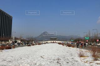 雪の光化門広場の写真・画像素材[1362972]