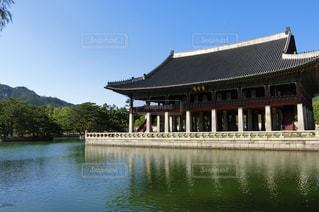 景福宮・慶会楼の写真・画像素材[1375196]