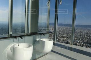 大阪・あべのハルカス展望台のトイレの写真・画像素材[1380956]